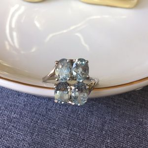 Jewelry - Sterling silver blue topaz ring